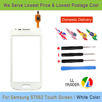 Wholesale Duos S 7562 - Wholesale-Trend Gt S7562 Quality Guarantee For Samsung Galaxy S Duos 7562 Touch Screen Digitizer White Free Shipping Free Tools