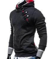 Wholesale Korean Men Hooded Sweater Jacket - 2015 new buckle hedging hooded sweater men Korean men's fashion men's sweater coat jacket .@829