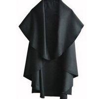 черная шерстяная накидка на зиму оптовых-Wholesale-2015 New Womens Cape Black Batwing Wool Poncho Jacket Lady Winter Autumn Warm Cloak Coat E3215E