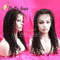 hint kıvrımlı tam dantel ön peruk toptan satış-Hint Saç Tam Dantel Peruk Su Dalgası Dalgalı Doğal Siyah Renk 100% İnsan Saç Dantel Peruk Hint Kıvırcık Dantel Peruk Julienchina Bella Saç