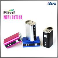 e zigarettenschirm großhandel-100% Original Eleaf mini iStick 10W 1050mAh Batterie Ultrakompakte VV-Box-Mod-variable Spannung OLED-Bildschirmanzeige E Zigaretten-Batterie