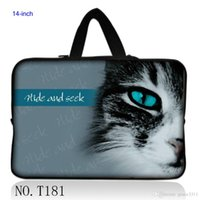 "Wholesale Laptop Cases Thinkpad - Cute Cat Eye 14"" 14.1"" Laptop Sleeve Bag Case Cover For Lenovo Thinkpad IBM Sony Dell"