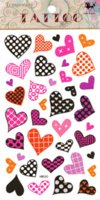 Wholesale Order Tattoo Designs - Women sex products fake temporary tattoo stickers waterproof lovely cute heart designs small hand finger body art mini order $5