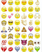 Wholesale Die Stickers - 20 Sheets 960 Die Emoji Removable Decal Mural Home Decor Emoji Smile Sticker For Laptop Notebook Message facebook tiwtter children's gifts