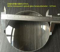 lente de vidro convexa venda por atacado-Freeshipping 2 PCS \ LOTE 127mm Lente Grande Lupa 5X Desktop Magnifier Substituir Lente de Vidro Branco Lente Convexa Dupla