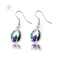 Wholesale Blue Opal Silver Earrings - Fashion Trendy blue stone and blue opal Silver Plated Earrings E4100 Recommend Promotion Favourite Best Sellers Time limited discount