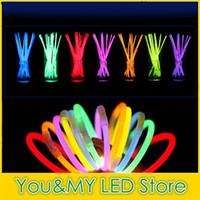 Wholesale multi colored night lights for sale - Group buy Edison2011 mm quot Multi Colors Hot Night Glow Stick Led Color Flashing Bracelet Lighting Flash Sticks Festival Items