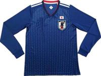 2018 world cup Japan Long sleeve Soccer jersey OKAZAKI KAGAWA HASEBE NAGATOMO  Football shirts 2017 2018 Away white Jersey uniforms 387ad74c4