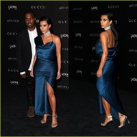 Wholesale Kim Kardashian Black Ruffle Dress - 2014 Red Carpet Celebrity Dress CMA Kim Kardashian One Shoulder Mermaid Evening Gowns Formal Women Wear