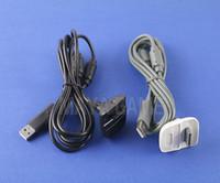 controlador de chumbo venda por atacado-Carregador usb cabo de carregamento rápido cabo de chumbo kit para microsoft para xbox 360 controlador sem fio da bateria do console