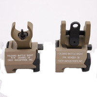 Wholesale Metal Troy Sight - Troy Metal Folding Battle Front and Rear Sight Dark Earth(DE-OO)