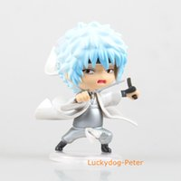 Wholesale Gintama Figures - Free Shipping Gintama Q Ver. Gintoki Sakata Action Figure Cute Shiro Yasha Doll PVC ACGN figure Toys Brinquedos Anime 10CM