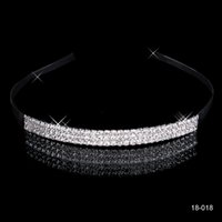 Wholesale rustic jewelry - 2018 Romantic Cheap Shinning wedding Party Hairbands Rhinestone Jewelry Garden Rustic Wedding Crowns Bridal Accessories chaep 18018