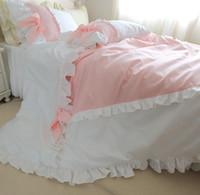algodn puro de lujo pcs sistema de ropa de cama funda de edredn princesa color rosa
