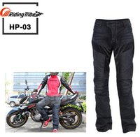 Wholesale Waterproof Jeans Men - New motorcycle jeans drop resistance slim denim automobile race pants motorcycle pants Free shipping Black blue