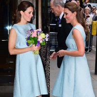 ingrosso vestito backless di kate middleton-Moda Principessa Donna Incinta Vestito Backless Kate Middleton A-Line Abiti WF010