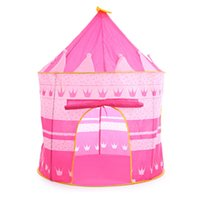Wholesale children game house - Prince Princess Castle Tent Baby Play Game House Large Indoor Outdoor Cubby Foldable Tent Christmas Gift For Children