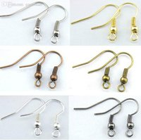 Gros-Fashion 200pcs / lot bijoux bricolage Finding 18mm Nickel / Argent / Or / Bronze / Brone Gunmetal Earring / Accrochez Claps fil Earwire