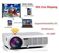Wholesale Home Theater Projector Cheap - New Cheap Factory Price !!! New LED96 Android WIFI Video HDMI USB DVB-T 1280x800 Full HD 1080P Home Theater 3D LED projector DHL