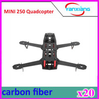 Wholesale Mini Helicopter Batteries - 20pcs Wholesale-Free shipping Blackout QAV250 full Carbon Fiber Mini 250 FPV Quadcopter Frame (Unassembled) ZY-DJI-25