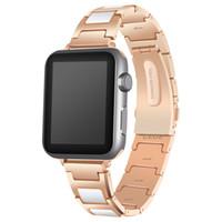 Wholesale Men Watch 38mm - Stainless Steel Watchbands Wrist For Iwatch Apple Men Watch Band Strap Women Bracelet Accessories Sport 38mm 42mm With Adapter