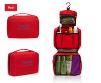 Wholesale Wash Gargle Bag Green - Portable Cosmetic bags large capacity outdoor hanging wash bag travel storage cosmetic sorting bags Waterproof Travel Wash gargle Bag by DHL