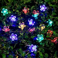 Energia Solar LED String Light 7M Outdoor Led Cobre Wire Colorido Lotus Flowers String Lights For Christmas Holiday Party Light