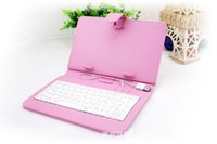 Wholesale inch holster - Tablet PC Cases Bags for 7 inch tablets universal tablet case holster with the keyboard Folding Folio Case 6 color choices 1pcs