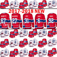 Wholesale New 27 - 2017- 2018 New Montreal Canadiens 31 Carey Price 6 Shea Weber Hockey Jersey 67 Max Pacioretty 27 Alex Galchenyuk 92 Jonathan Drouin Jerseys