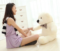 Wholesale Giant Teddy Bear Cheap - Wholesale cheap Hot GIANT 80CM BIG CUTE Beige PLUSH TEDDY BEAR HUGE WHITE SOFT 100% COTTON TOY