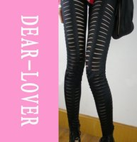 Wholesale Getting Cheaper - Punk Leggings Tear Wholesale,Front Getting Ripped Leggings LC7832+ Cheaper price + Free Shipping+ Fast Delivery FG1511