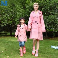 EVA Lady Trench Coat Style с капюшоном Raincoat Women Waterproof Rain Coat с поясом Outdoor Rainwear