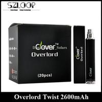 Wholesale Ego Batters - Original 2600mah Clover Overlord Twist Battery Variable Voltage E Cigarette Battery 3.2V-4.8V vs EGO II Twist XDOG II Firephoenix EGO Batter