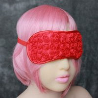Wholesale Sexy Sleeping Sex - 2016 Sexy Black Red Pink Eye Mask Patch Blindfold Adult Games Flirt Sex Toy Sleep Sexy Party Blinder Products For Couples