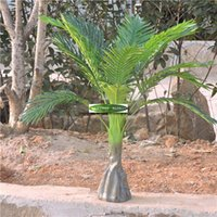 Floor Mounted outdoor artificial plants - 6set Christmas Large CM Latex Wedding Home Outdoor Patio Sago Decoration Artificial Phoenix Coconut Palm Plant Tree Fake Foliage Green