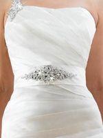 Wholesale Crystal Sash Band - Hot sale Cheap dazzling crystal beaded wedding accessory bridal wedding belts wedding sash band