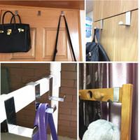 Wholesale wholesal clothing online - Wholesal Back Door Hook Houseware Clothes Robe Hooks Stainless Steel Hanger LZ0580