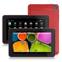 Le plus récent 9 pouces A33 Quad Core Android 4.4 Tablet PC 8 Go ROM 512M RAM Double caméra Comprimés Bluetooth Flash Light WiFi