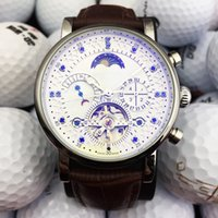 классические часы для швейцарских часов оптовых-Топ швейцарский бренд роскошные часы автоматический механизм self-wind часы MoonPhase натуральная кожа часы турбийон джентльмен бизнес часы классический