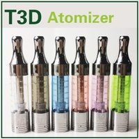 T3D Clearomizer Ecig Vaporizadores Atomizer Clone Replaceable Coils Bottom Tank metal gotejamento tip Fit Ego-T Evod Vision Ego 2 Ecigarette Battery