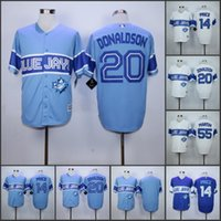 Wholesale Wholesale Jersey Toronto - Exclusive Toronto Blue Jays Troy Tulowitzki Josh Donaldson Home Road Wholesales Cheap American baseball jerseys Embroidery Logo Mix Order