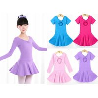 Wholesale Tutu Ballet Leotard Dresses - Hot New Children Kids Girls Leotard Dance Dress Costumes Ballet Tutu Skirt Dancewear For Age 2-12 Years
