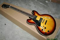 Wholesale sunburst 335 - Sunburst Left Handed Guitars 335 Hollow Jazz Guitar New Arrival OEM From China