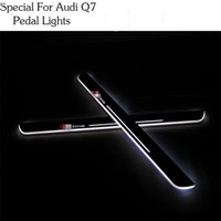 Wholesale Led Door Sill Plates - For Audi Q7 Car Styling LED pedal light pathway light Moving Door Scuff Door Sill Plate Cover Side Step Led DRL lamp