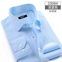 Wholesale Cheap Import Dress Shirt - Wholesale-2015 new fashion casual dress long sleeve shirt men white black solid full imported clothing male plus size dresses cheap china