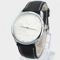 cajas de relojes para mujeres al por mayor-2019 Venta caliente reloj popular estilo simple Caja de acero Hombre Reloj Cuero Mujer Vestido de moda Reloj de lujo Reloj de los amantes de la alta calidad