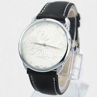 стальные часы оптовых-2019 Горячее Надувательство популярные часы простой стиль Стальной корпус Человек Часы Кожа Женщины Моды Платье Часы Роскошные часы Любители Наручные Часы Высокого Качества