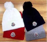 рисунок шерстяной крышки оптовых-2017 мода Канада мужская женская шерстяная шапка осень зима теплая вязать шапки трикотажные бейсбол шаблон шляпы Cap новый бренд
