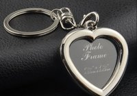 Wholesale Blank Metal Keyring - 2015 New Zinc Alloy Blank Frame Keychain Metal Keyring 6 Patterns DIY Yourself Photo Keychains As Christmas Gift
