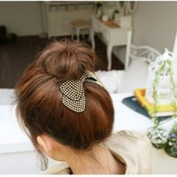 Wholesale China Hair Bows - Fashion women hair accessories wholesale!new arrival bow hairpins,designer all match hair barrettes, girl's trendy hairggrips